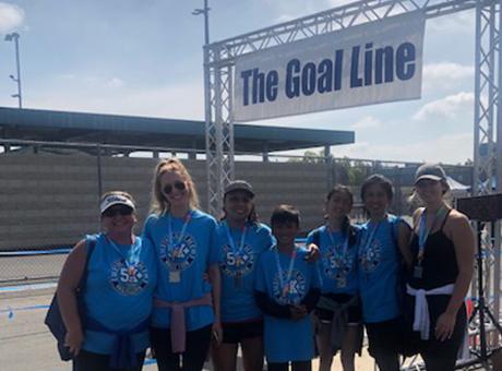 Let It Be Foundation 10K/5K Columbus participants at goal line