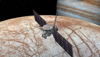 An artist's rendering of the Europa Clipper spacecraft NASA/JPL-Caltech